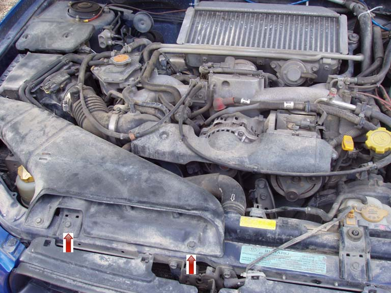 Timing Belt: Air Intake Removal
