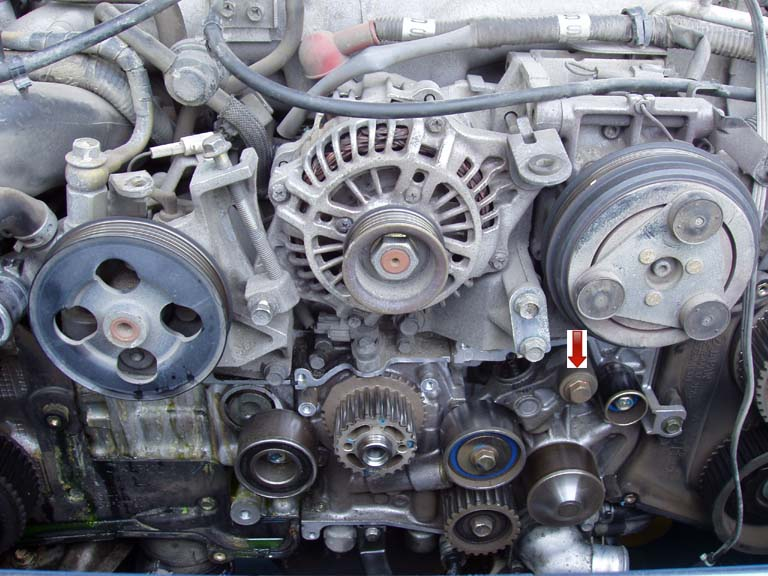 Timing Belt: Remove Belt Tensioner.