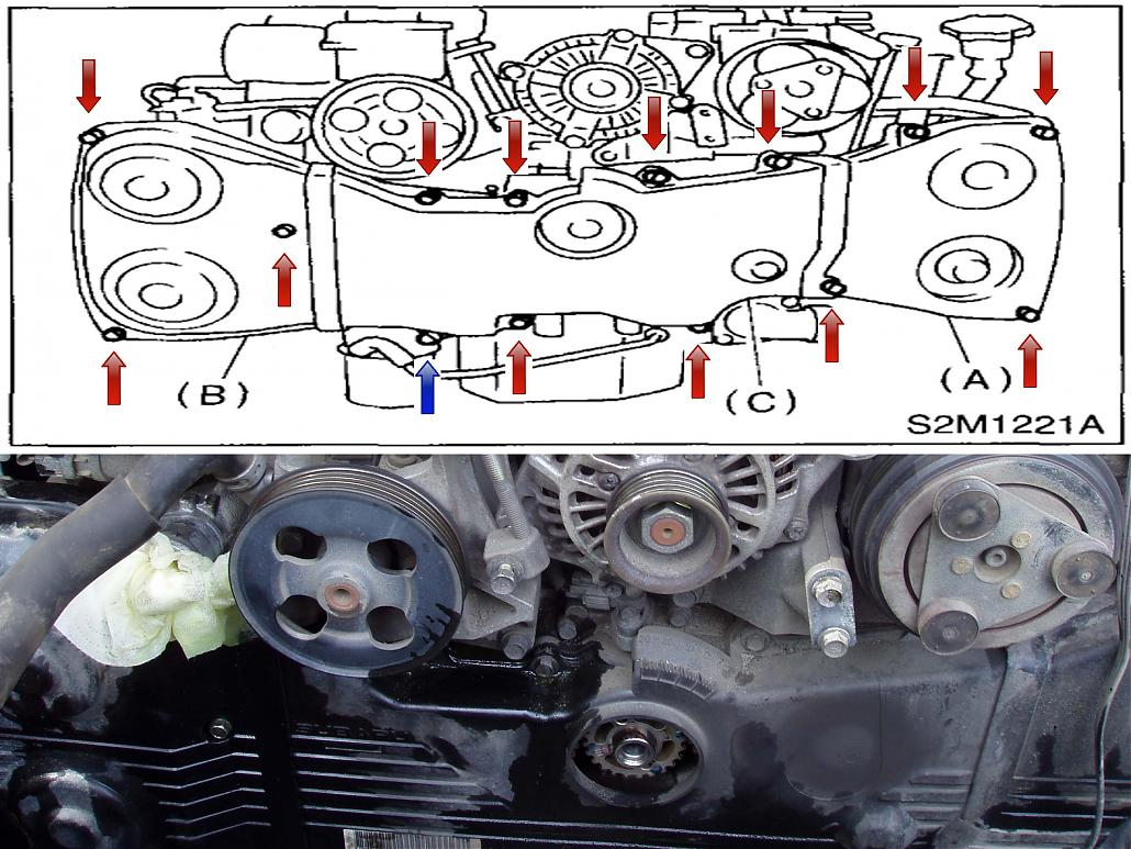 Timing Belt and Water Pump Replacement Subaru WRX STi
