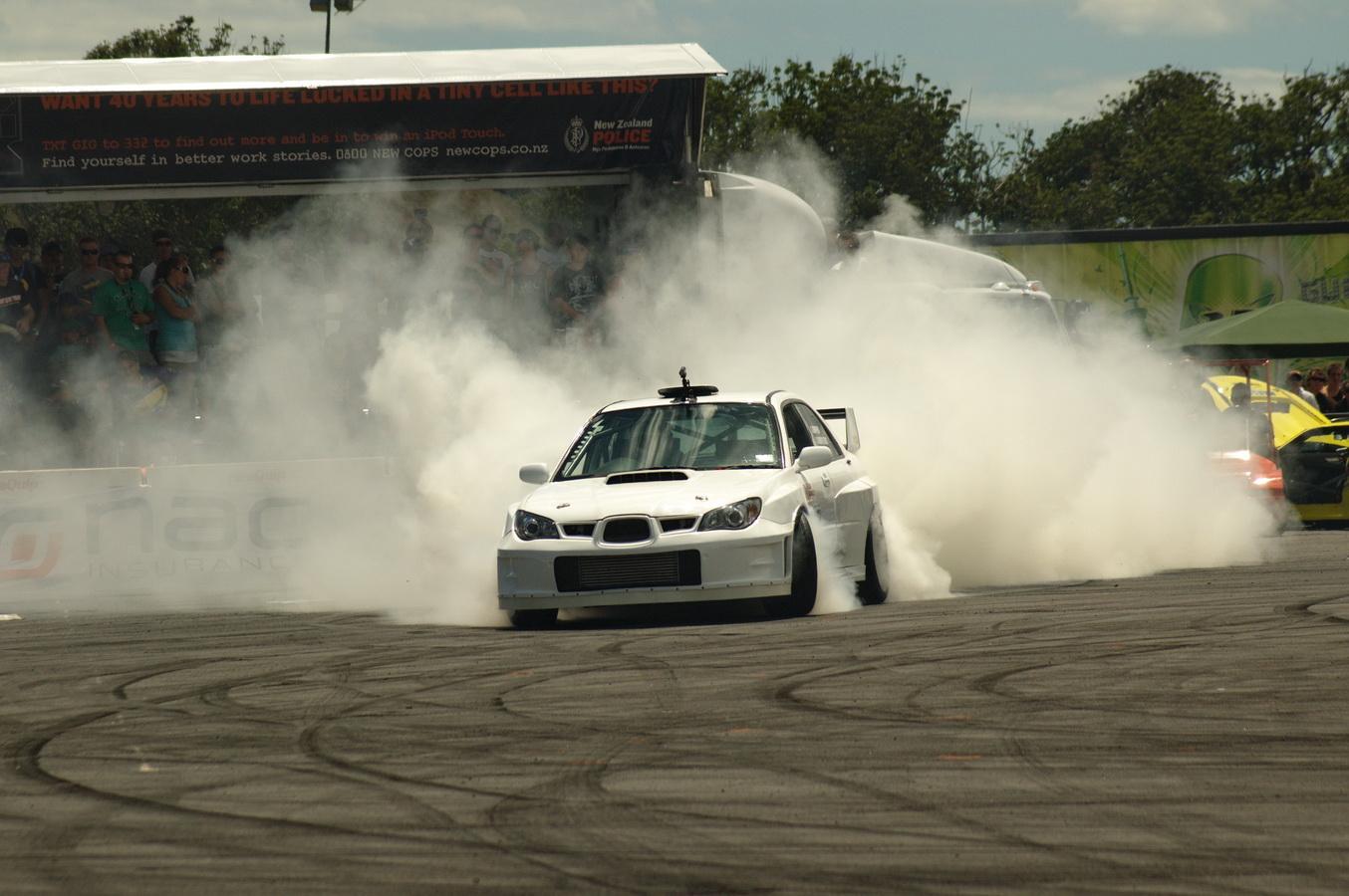 Subaru WRX STi Burnout
