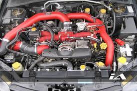 FMIC install in a Subaru WRX STi.