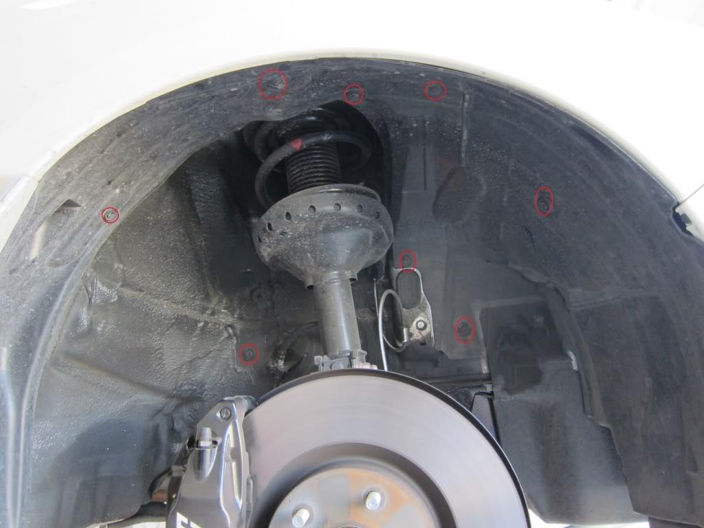 Subaru STi Inner fender removal.