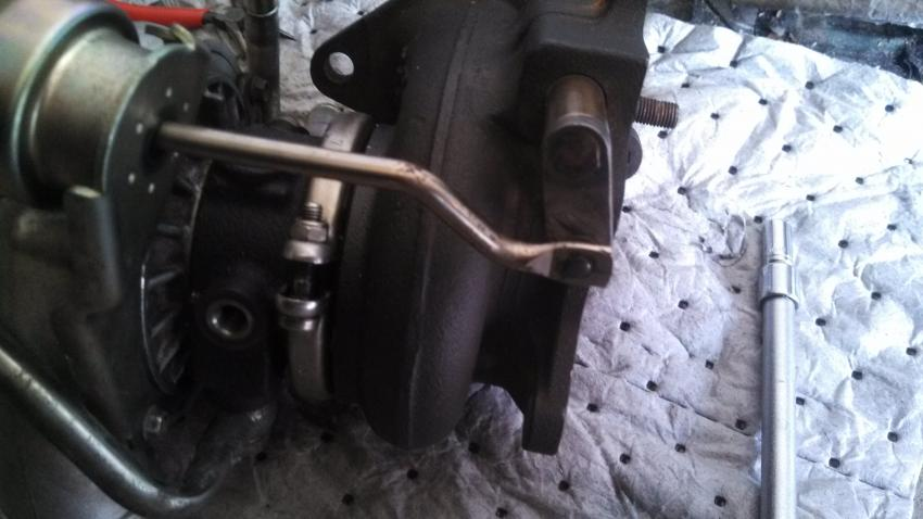 Wastegate and Boost Creep FAQ: A stock Subaru turbo with the internal wastegate and stock actuator.