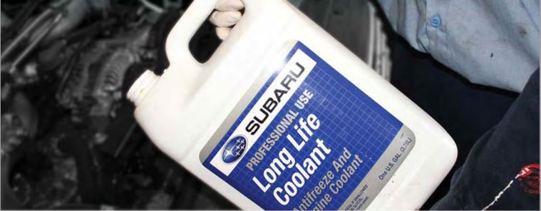 Coolant Engine: Always use Subaru oem coolant in your Subaru car.
