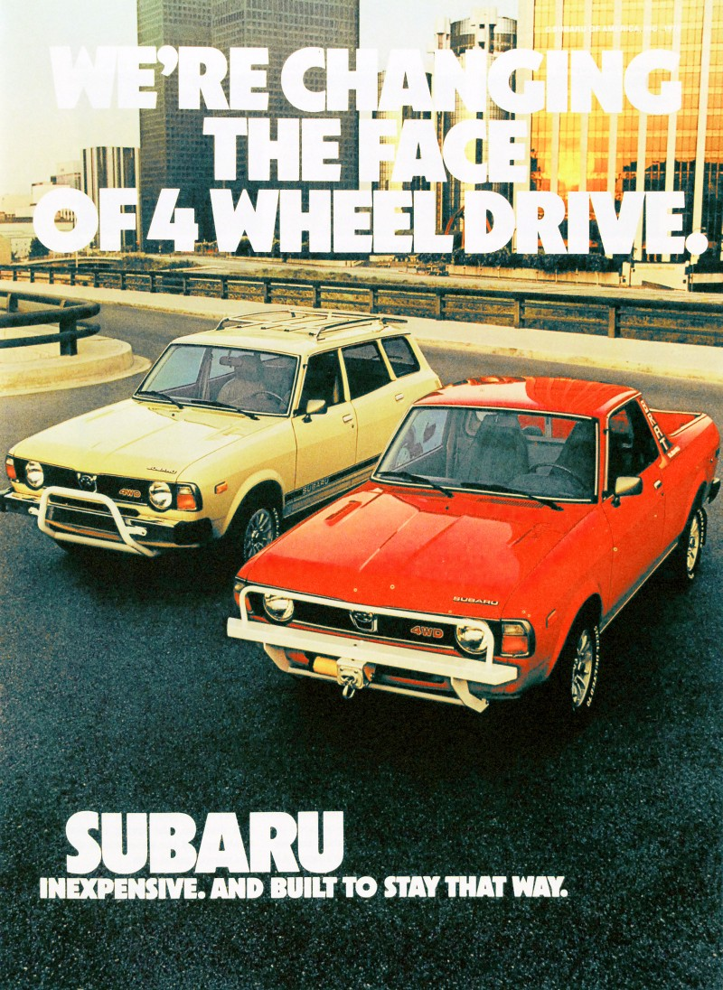 Subaru Brat: We're changing the face of 4 wheel drive.