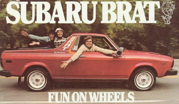 Subaru Brat: If you tried cruising on this you would be pulled over immediately.