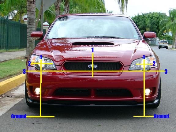 Headlight aiming basics for Subarus: Some basic headlight adjusting techniques for Subaru cars.