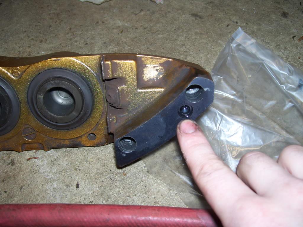 Brembo Caliper: O-ring location in a brembo caliper.