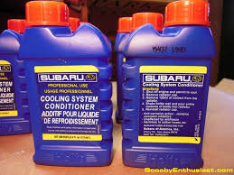 Subaru Cooling System Conditioner has recently been required to be added with every coolant replacement to prevent coolant system leaks. This recommendation applies to every Subaru model for every model year.