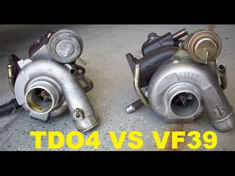 TD04 turbo and a VF39 turbo