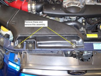 Spark plug step 2.) Remove intake duct.