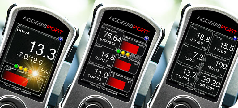 A typical way of engine management is to use a Cobb Accessport.