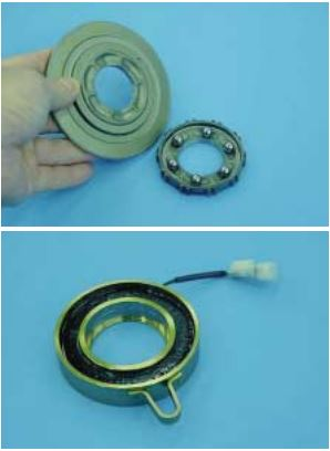DCCD: Six balls placed between the pilot clutch hub and intermediate pressure plate and other components.